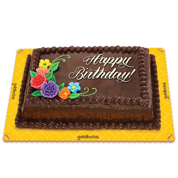 Chocolate Chiffon Greeting Cake