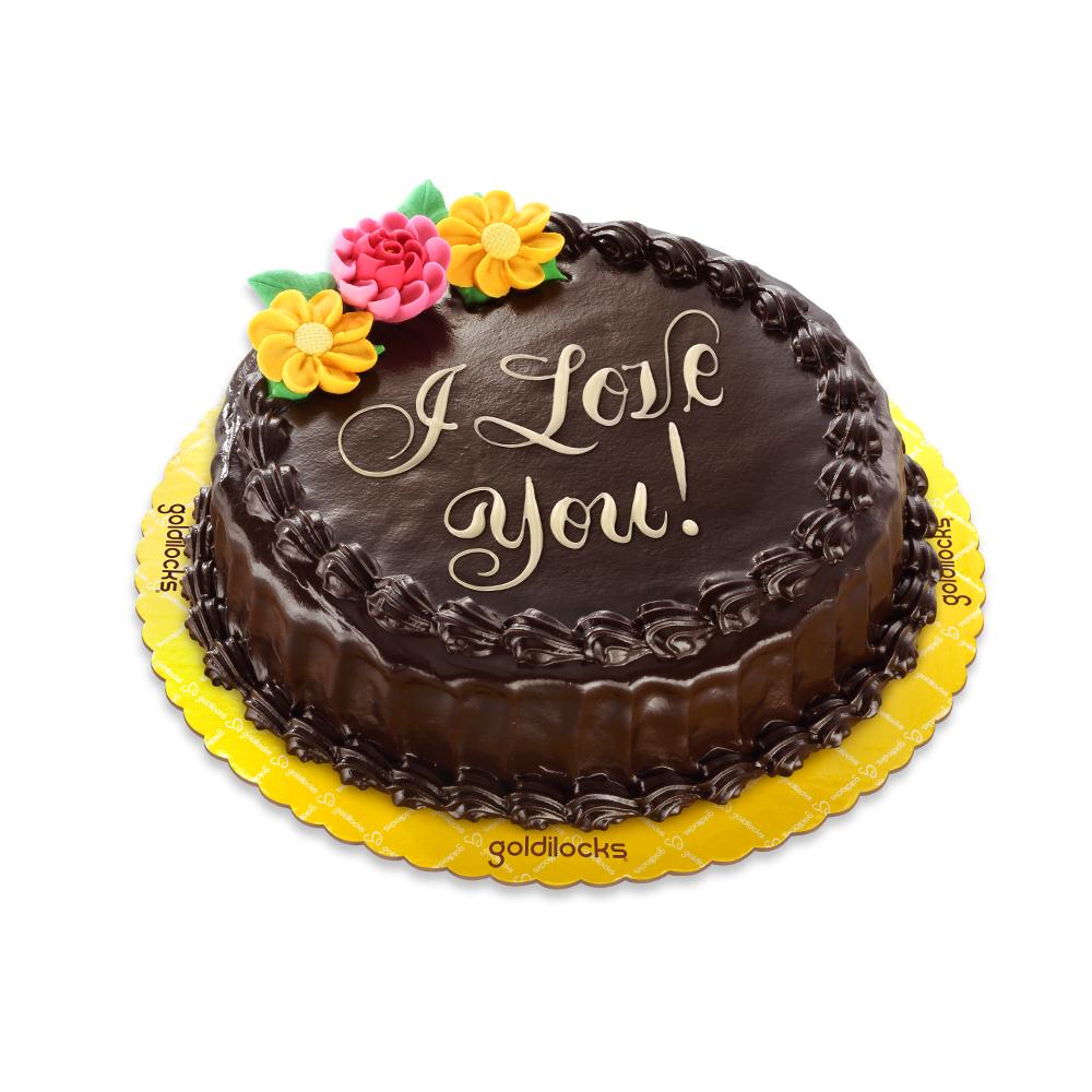 Chocolate Chiffon Greeting Cake Round